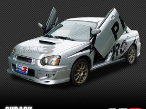 Subaru Impreza 2000-2003, 4D Model, LAMBO DOOR KIT, PAIR.