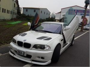 BMW E46 (M3), 2d Model, LAMBO DOOR KIT, PAIR.