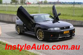 NISSAN SKYLINE R33, LAMBO DOOR KIT, PAIR.
