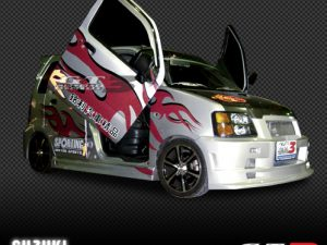 Suzuki Wagon R 1998-2007, LAMBO DOOR KIT, PAIR.